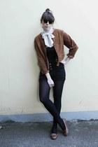 vintage blazer - vintage scarf - Topshop shorts - thrifted vintage sunglasses -