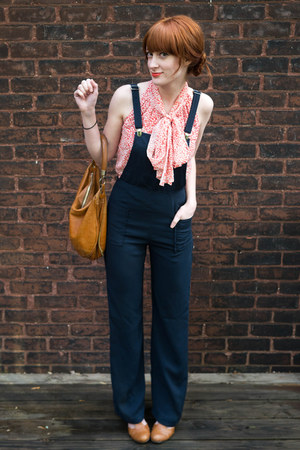 overall Forever21 pants - vintage purse - Old Navy blouse - gift heels
