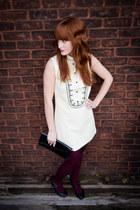 vintage dress - HUE tights - vintage purse - Payless heels