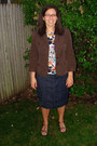 Brown-loft-blazer-denim-torrid-skirt