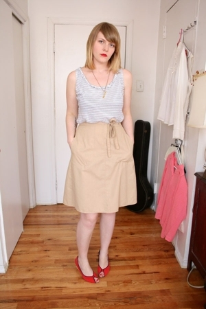 steven alan top - vintage skirt - Urban Outfitters shoes