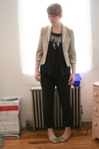 Rebecca Taylor blazer - Soni & Cindy top - Cheap Monday jeans - APC Madras acces