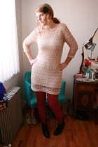 Zara dress - Uniqlo stockings - Rachel Comey boots