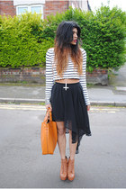 Glamorousuk skirt - faux litas Jeffrey Campbell boots - Zara bag