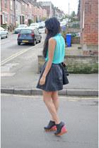 skater leather Leather skater skirt skirt