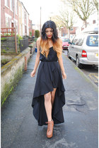 black dip hem inlovewithfashion dress