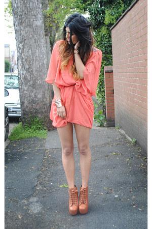 Jeffrey Campbell heels - coral TJ Maxx dress