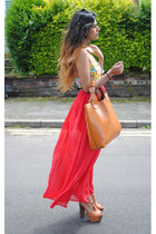 popcouture skirt - Zara bag - asos bag - motelrocks top