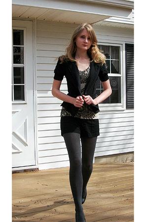 Target blazer - kohls shoes - Target t-shirt - payless tights - Target shorts