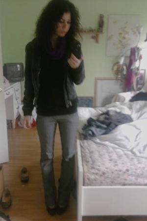 random from Barneys scarf - Target shirt - Steve Madden jacket - Ross jeans