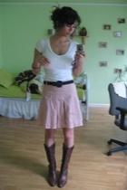 forever 21 shirt - thrift belt - forever 21 skirt - thrift shoes