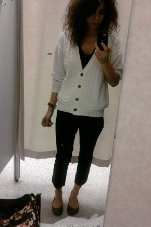 forever 21 t-shirt - thrift sweater -  pants - Target shoes
