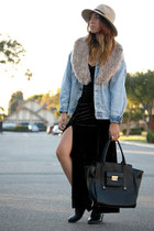 Forever 21 dress - Anthropologie hat - 31 Phillip Lim bag