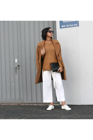 H&M bag - Zara coat - H&M sweater - RAEN sunglasses - Zara pants