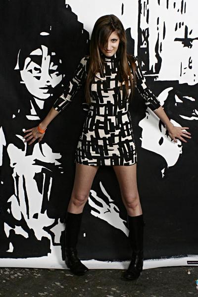 ASH boots - Rachel Pally dress