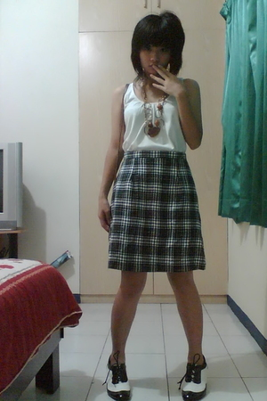 top - My moms skirt - bracelet - kbox shoes