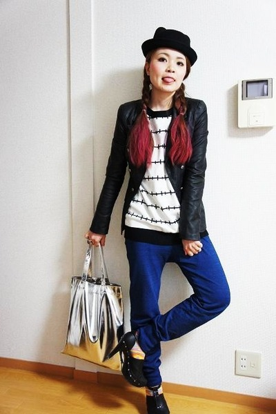 f21 sweater - f21 blazer - Zara pants