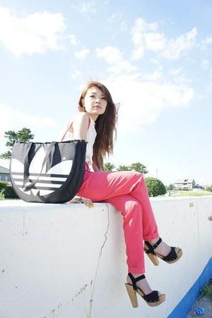 Forever21 pants - adidas bag
