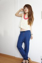 Zara pants - H&M top - Forever21 necklace