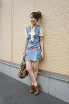 used dress - used blouse - forener21 heels