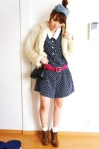 Forever21 shoes - vintage dress - vintage bag