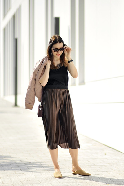 metallic skirt new look skirt - bomber jacket new look jacket