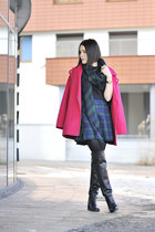 tartan F&F skirt - overknee Zara shoes