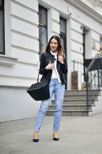 cropped Top Secret pants - bow tie Orsay blouse