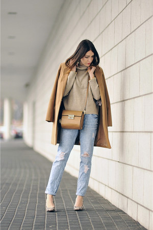 camel coat new look coat