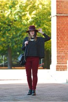 Parfois hat - reserved sweater - Stradivarius bag - new look pants