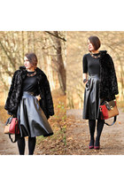 leather PresKA skirt - faux fur new look jacket