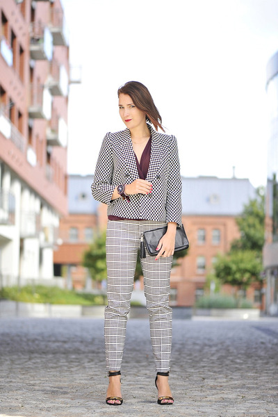 checkered Zara pants
