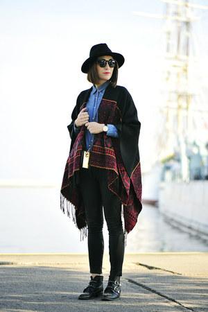 poncho new look coat