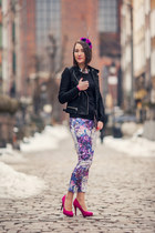flowers violet H&M pants