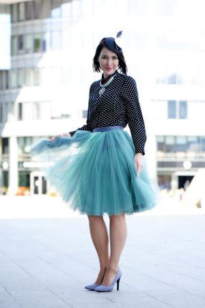 FANFARONADA skirt - new look shoes - dots new look blouse