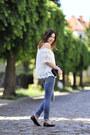 New-look-blouse-frayed-pants-tally-weijl-pants