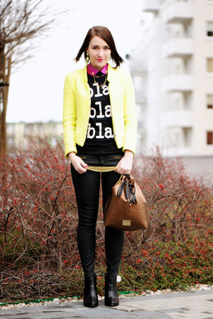 lemon jacket Zara jacket - skinny jeans Zara jeans