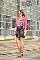black new look skirt - pink cotton Zara jacket
