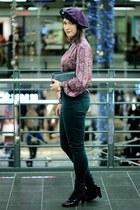 vintage vintage for ever blouse - skinny new look pants