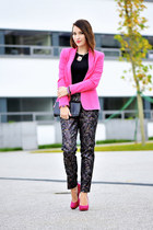 jacquard H&M pants - cotton Zara jacket