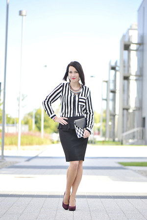 peplum new look skirt - cotton moodo blouse
