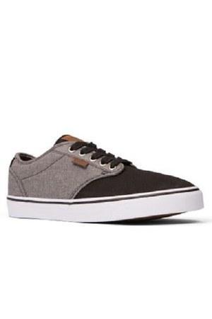 brown round toe sneakers