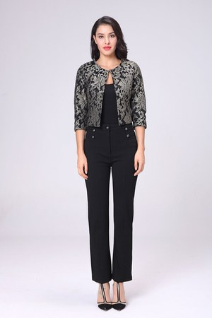 black polyester jusdorange jacket