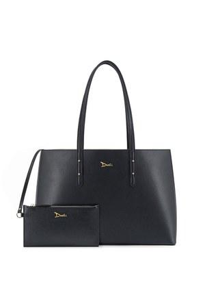 black tote doshi shop bag