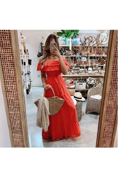 orange maxi dress Prinzzesa dress