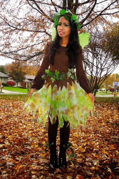 brown boots - brown leggings - brown sheer blouse - cape  sc 1 st  Chictopia : wood fairy costume  - Germanpascual.Com