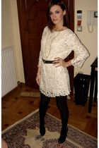 white lace philip lim dress - black wedges Giuseppe Zanotti shoes