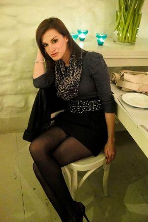 gray Zara blouse - black Zara skirt - black Zara belt - black Calzedonia stockin