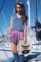 blue - skirt - blue American Apparel - American Apparel accessories