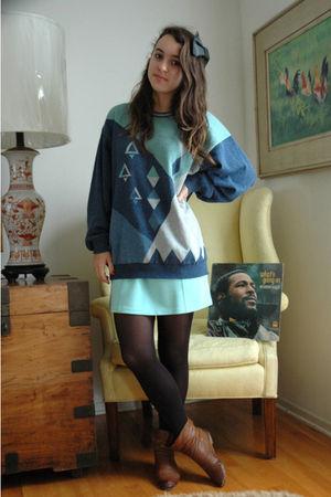 sweater - Betsey Johnson skirt - LF boots -